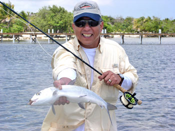fly fishing Coco Plum Caye, Belize