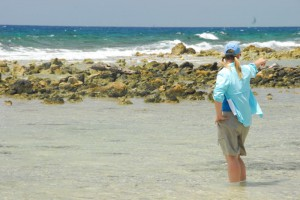 Fly Fishing near the reef on Turneffe Atoll