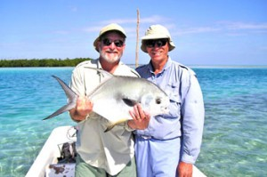 A permit just off Ambergris Caye