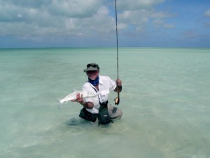 Christmas Island Fly fishing for bonefish, giant trevally