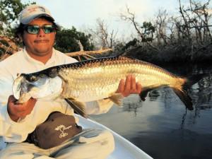 Fly fishing Mexico's Yucatan penisula for Rio Lagartos' baby tarpon.