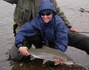 Alaska giant rainbows on egg patterns