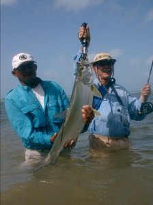 Los Roques Fly fishing for bonefish in Venezuela.