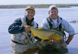 Fly Fishing in Argentina for Dorado at Humbare Lodge- a big fish