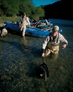 Trout fishing in Chile at El Patagon Lodge, fly fishing heaven.