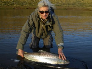 Kau-Tapen-Big-sea-run-brown Fly fishing for sea run brown trout at the Kau tapen lodge in Tierra del Fuego Argentina