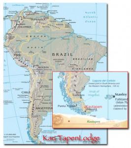 a map for Sea run brown trout Tierra del Fuego