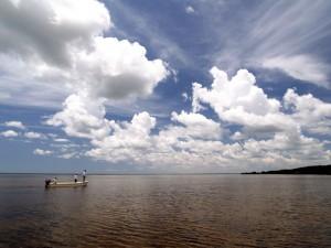 Fly fishing in Mexico for tarpon at Isla del Sabalo- a tarpon Flat
