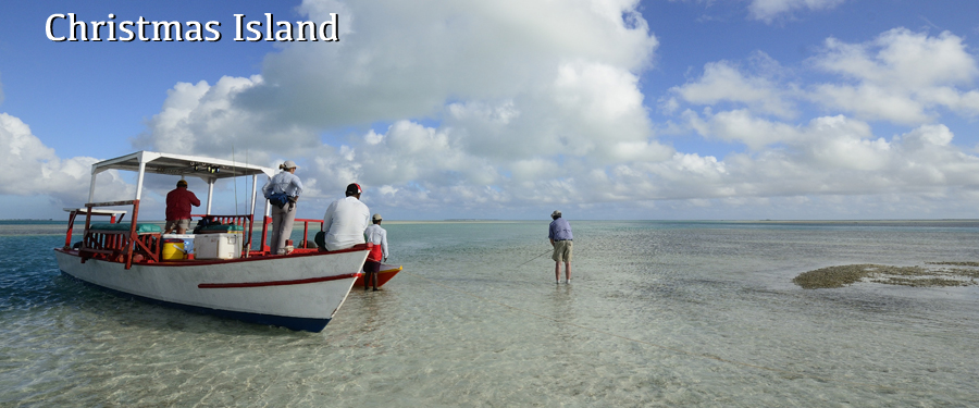 fly fishing Christmas Island for bonefish and giant trevally